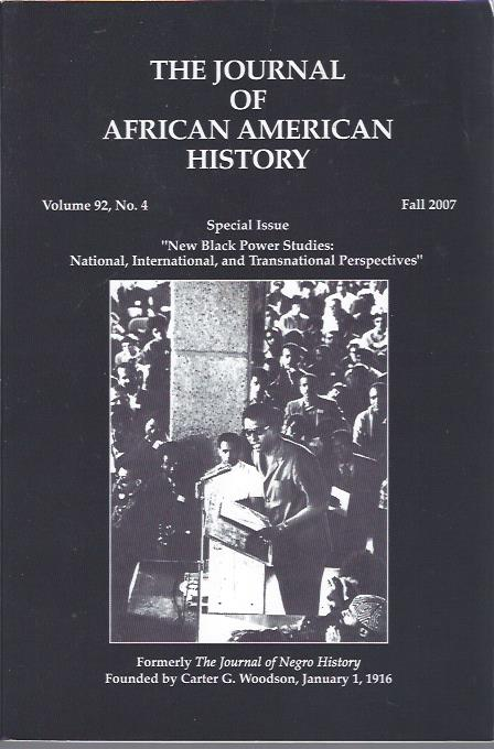 Image for The Journal of African American History, Fall 2007