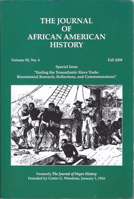 Image for The Journal of African American History, Fall 2008