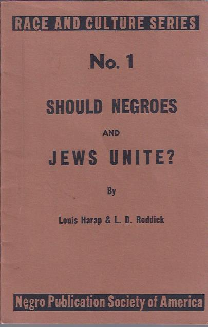 Image for Should Negroes and Jews Unite?