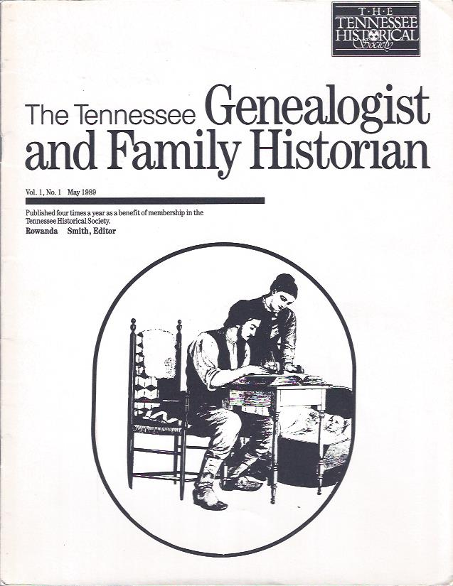 Image for The Tennessee Genealogist and Family Historian, May 1989