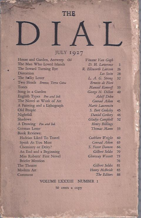 Image for The Dial,  July, 1927