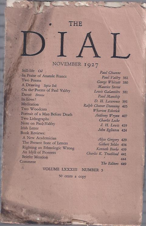 Image for The Dial,  November, 1927