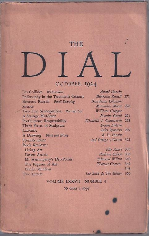 Image for The Dial,  October, 1924