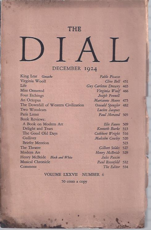 Image for The Dial,  December, 1924