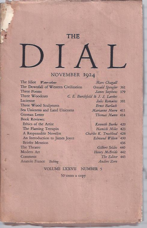 Image for The Dial,  November, 1924