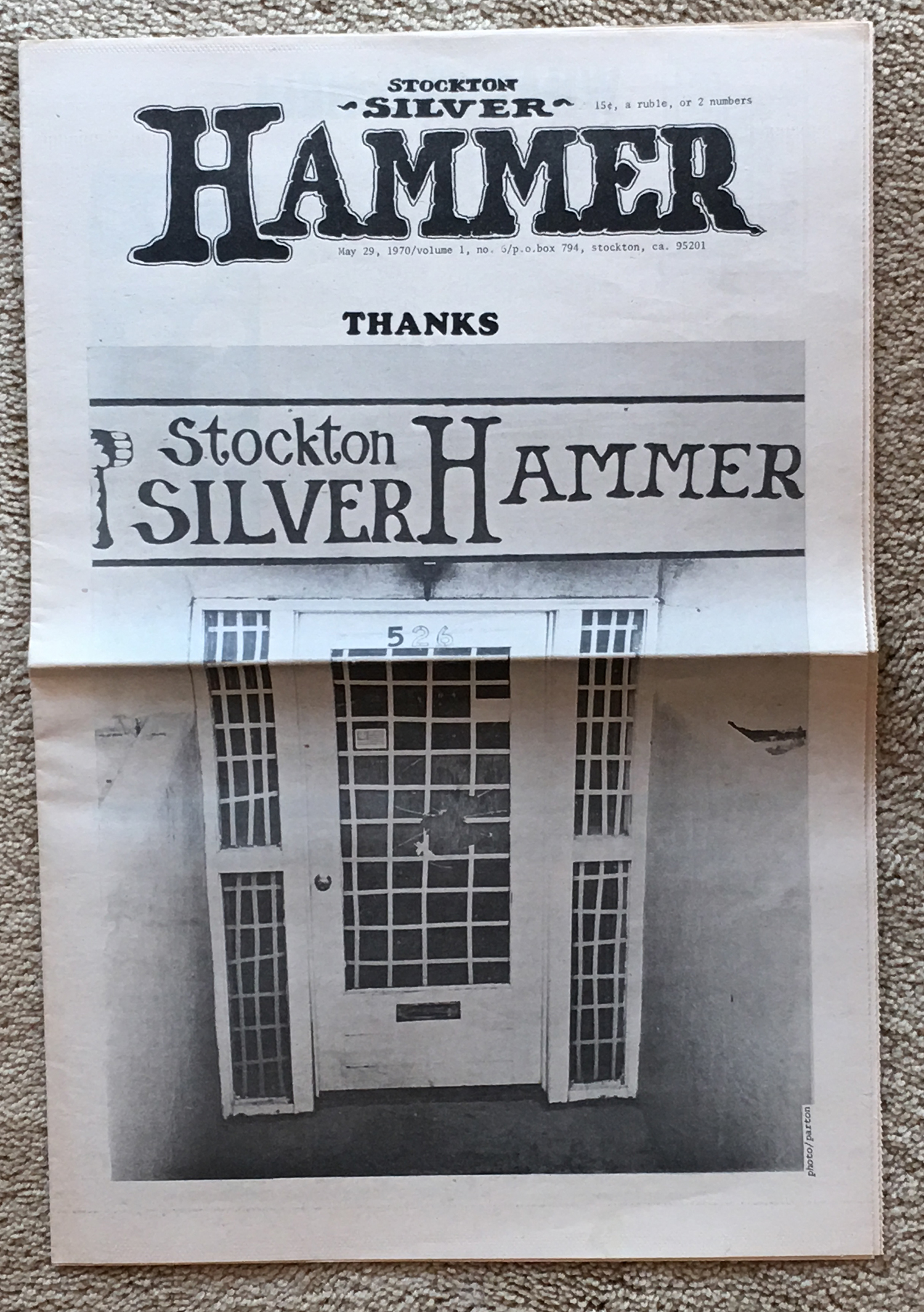 Image for The Stockton Silver Hammer, May 29, 1970