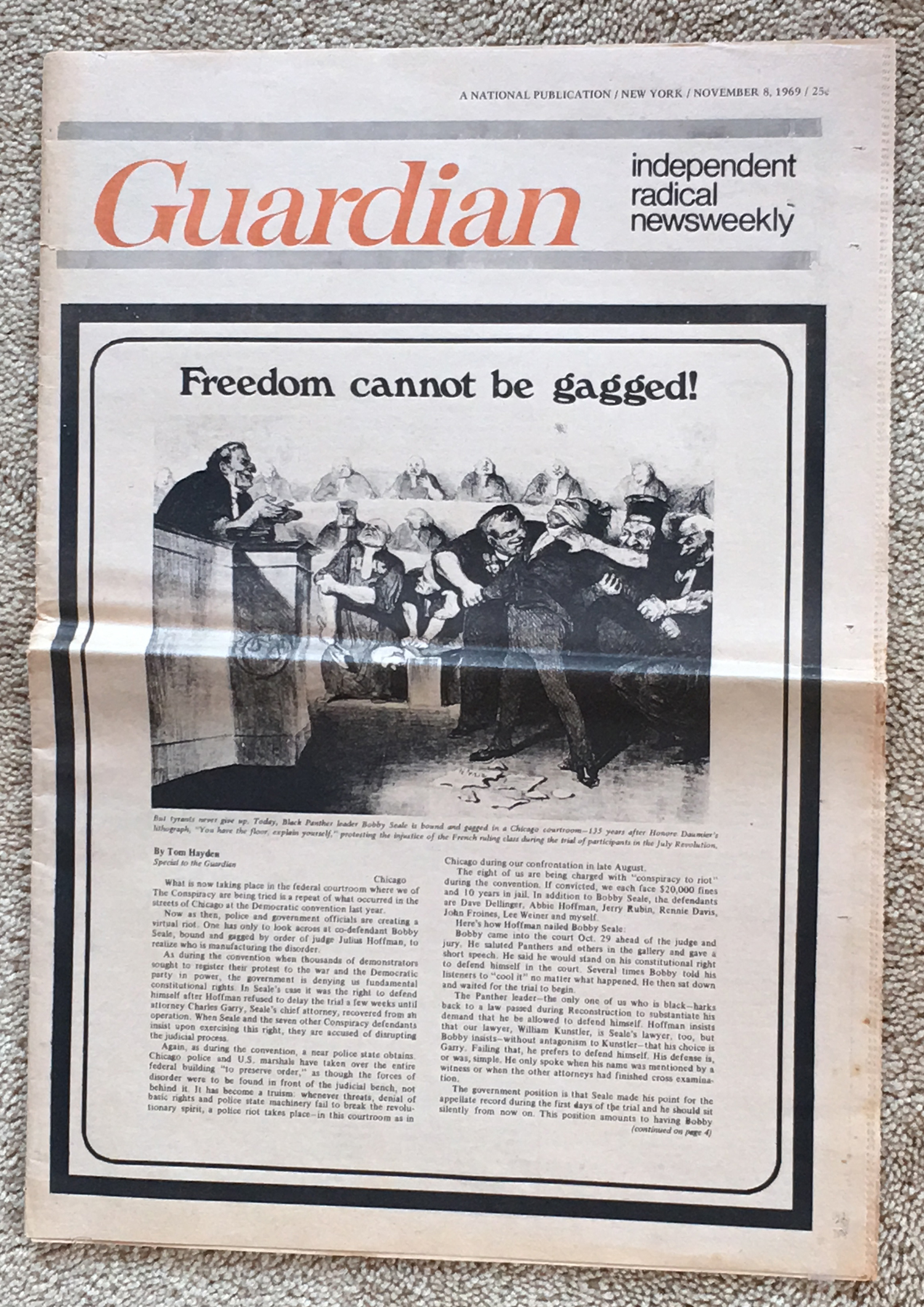 Image for The Guardian: Independent Radical Newsweekly, November 8, 1969