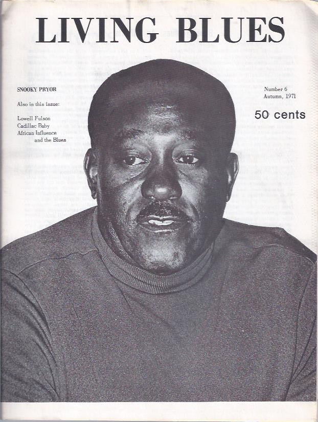Image for Living Blues : A Journal of the Black American Blues Tradition, Autumn, 1971