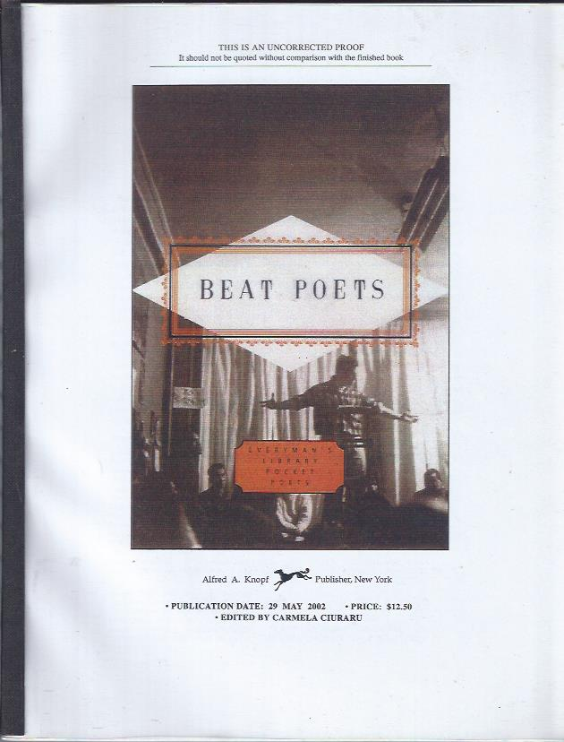 Image for Beat Poets (Uncorrected Proof)