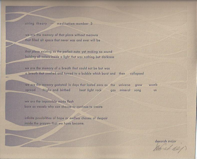 Image for Meditation Number 3 -- Broadside