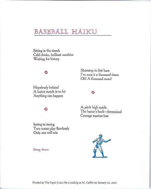 Image for Baseball Haiku -- Broadside