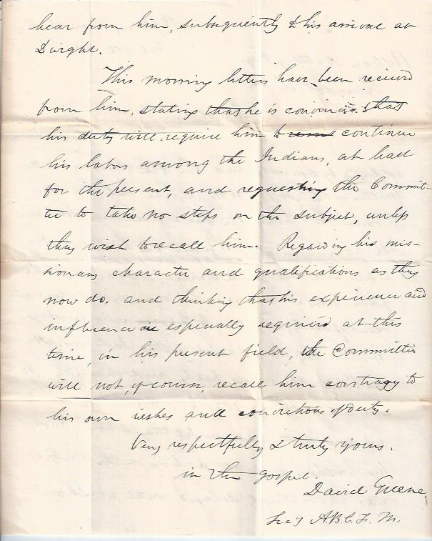 "Image for Letter Concerning C. L. Washburn, ""Apostle to the Indians"" ""Trail of Tears"" Cherokee"