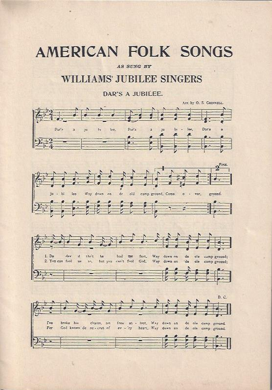 Image for American Folk Songs as Sung by the Williams' Jubilee Singers