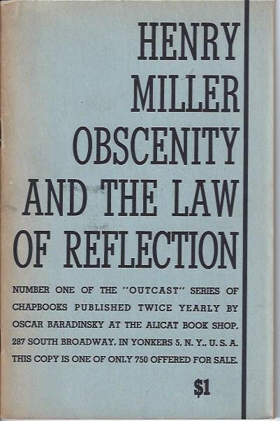 Image for Obscenity and the Law of Reflection