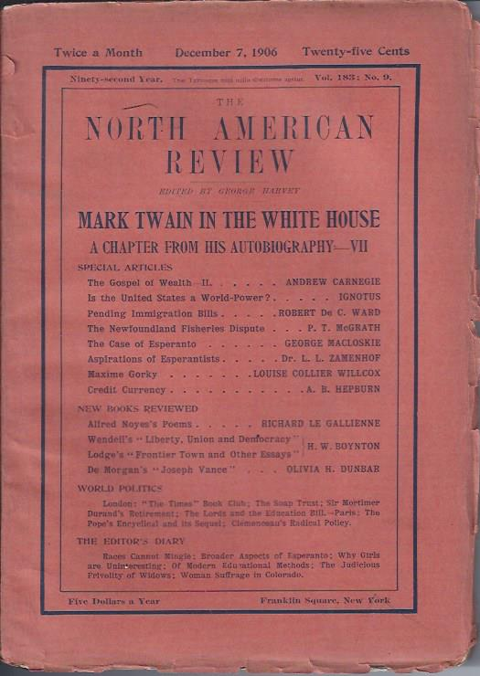 Image for Mark Twain in the White House : A Chapter from His Autobiography -- VII -- in The North American Review, December 7, 1906