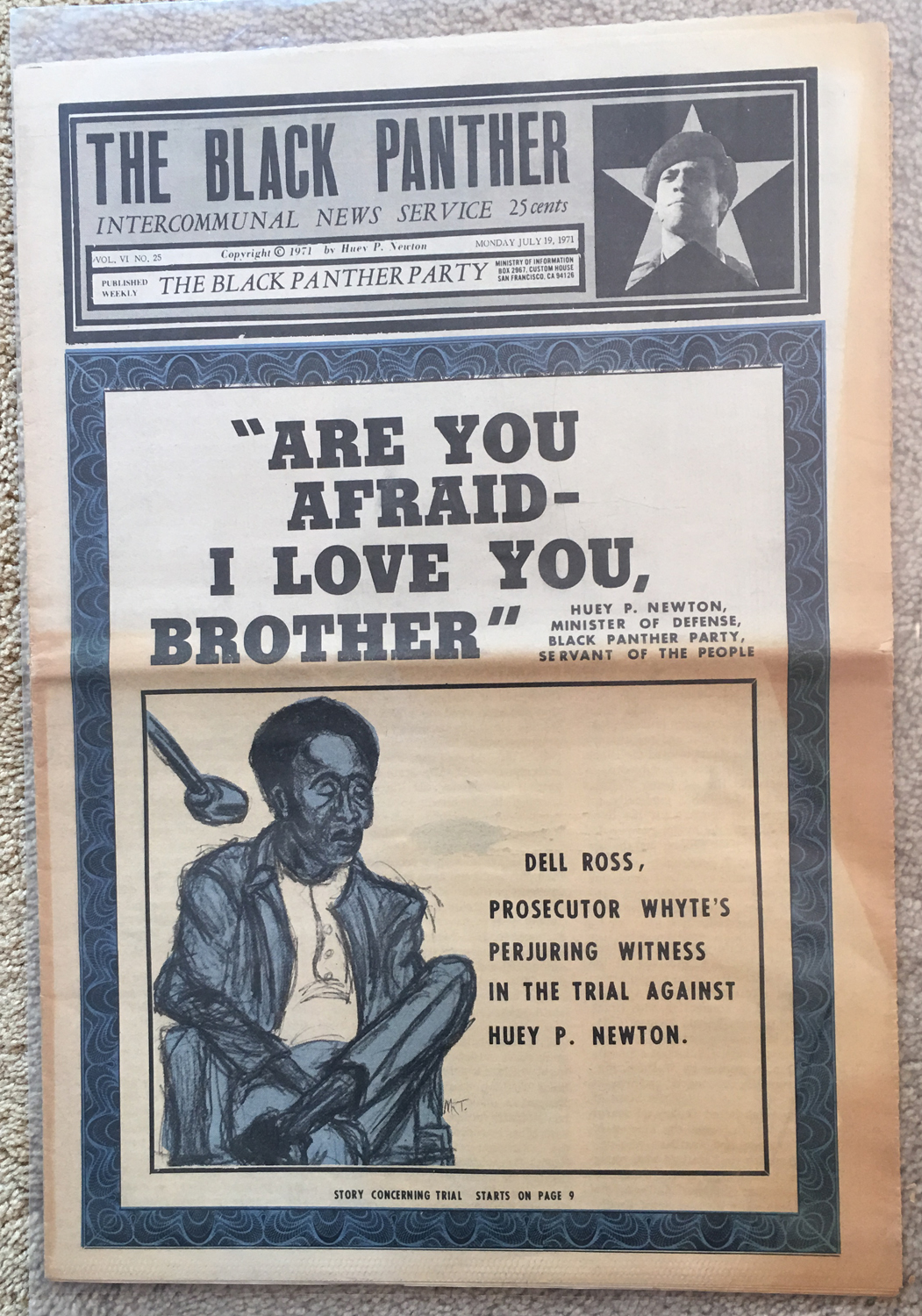 Image for The Black Panther, July 19, 1971 : InterCommunal News Service