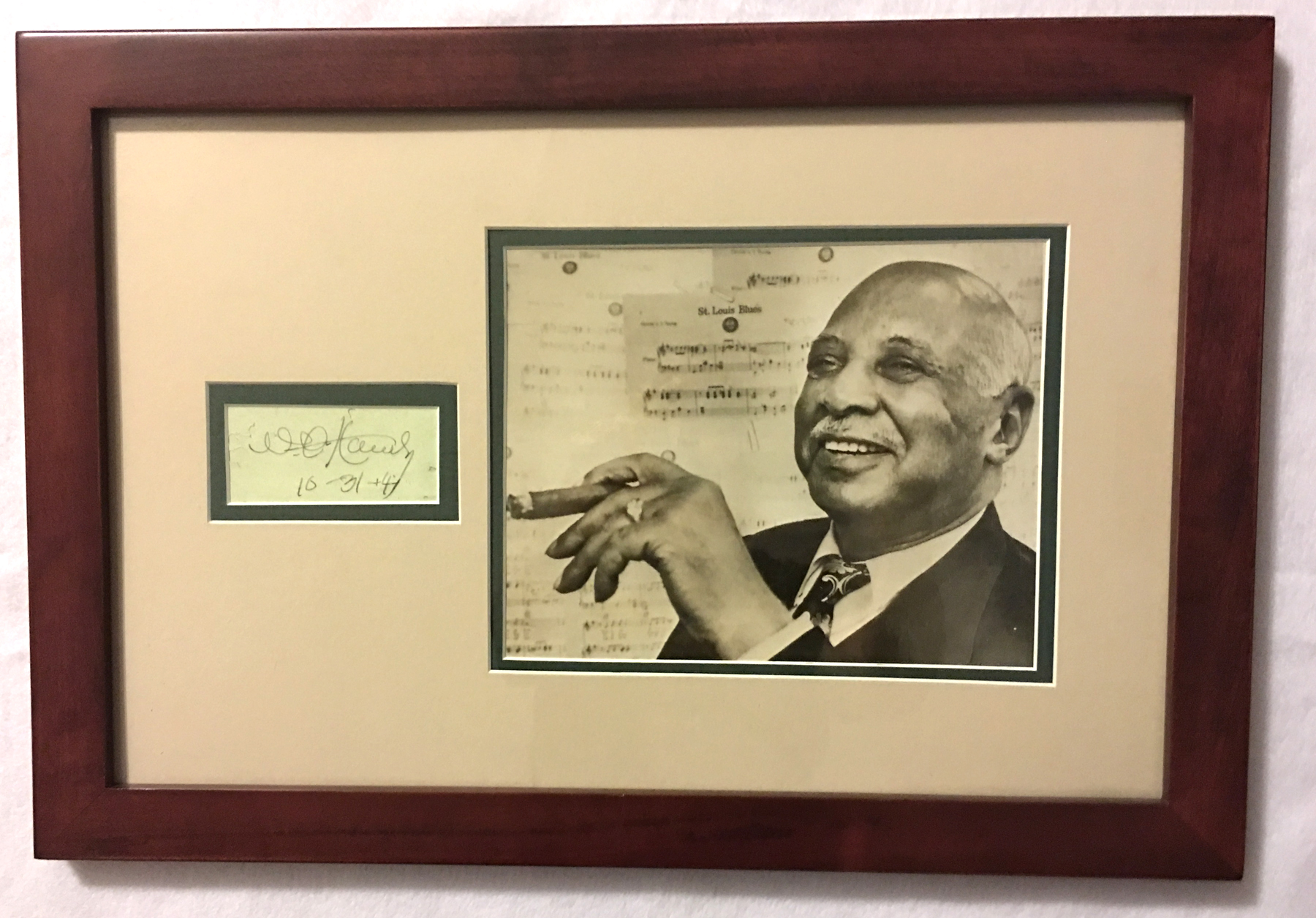 Image for Autograph of W. C. Handy, Framed with Photo