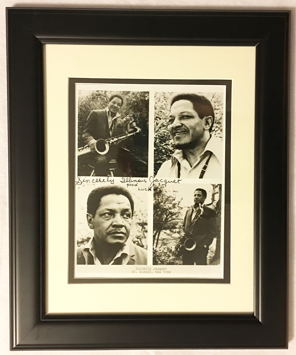 Image for Autographed Framed Photo of Illinois Jacquet
