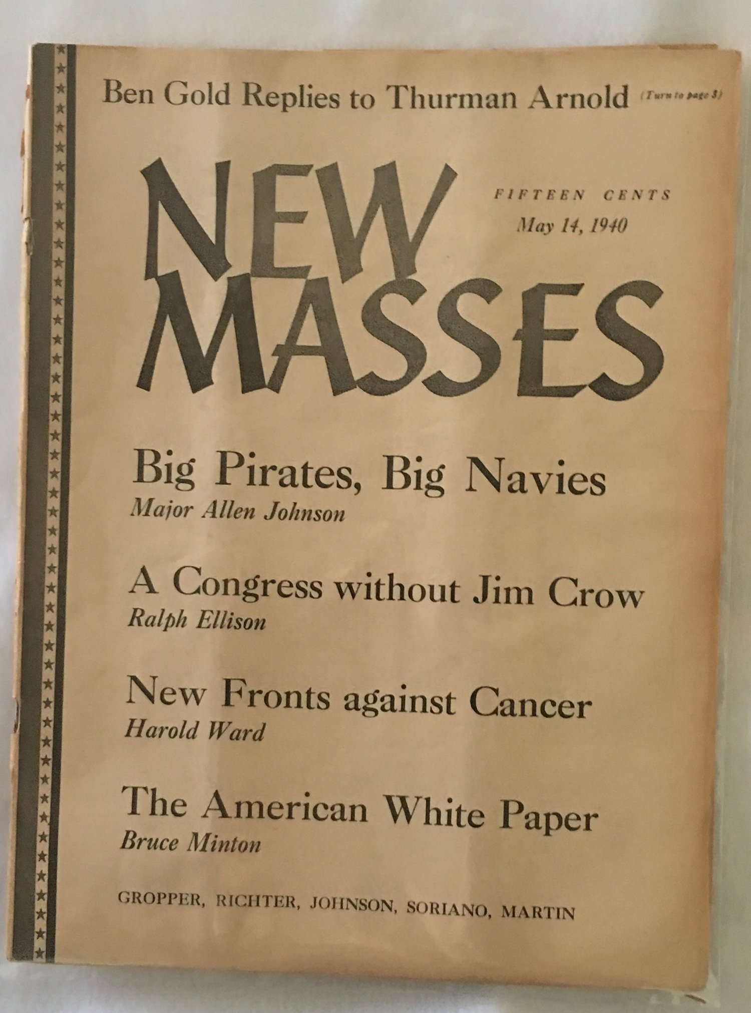 Image for New Masses, May 14, 1940