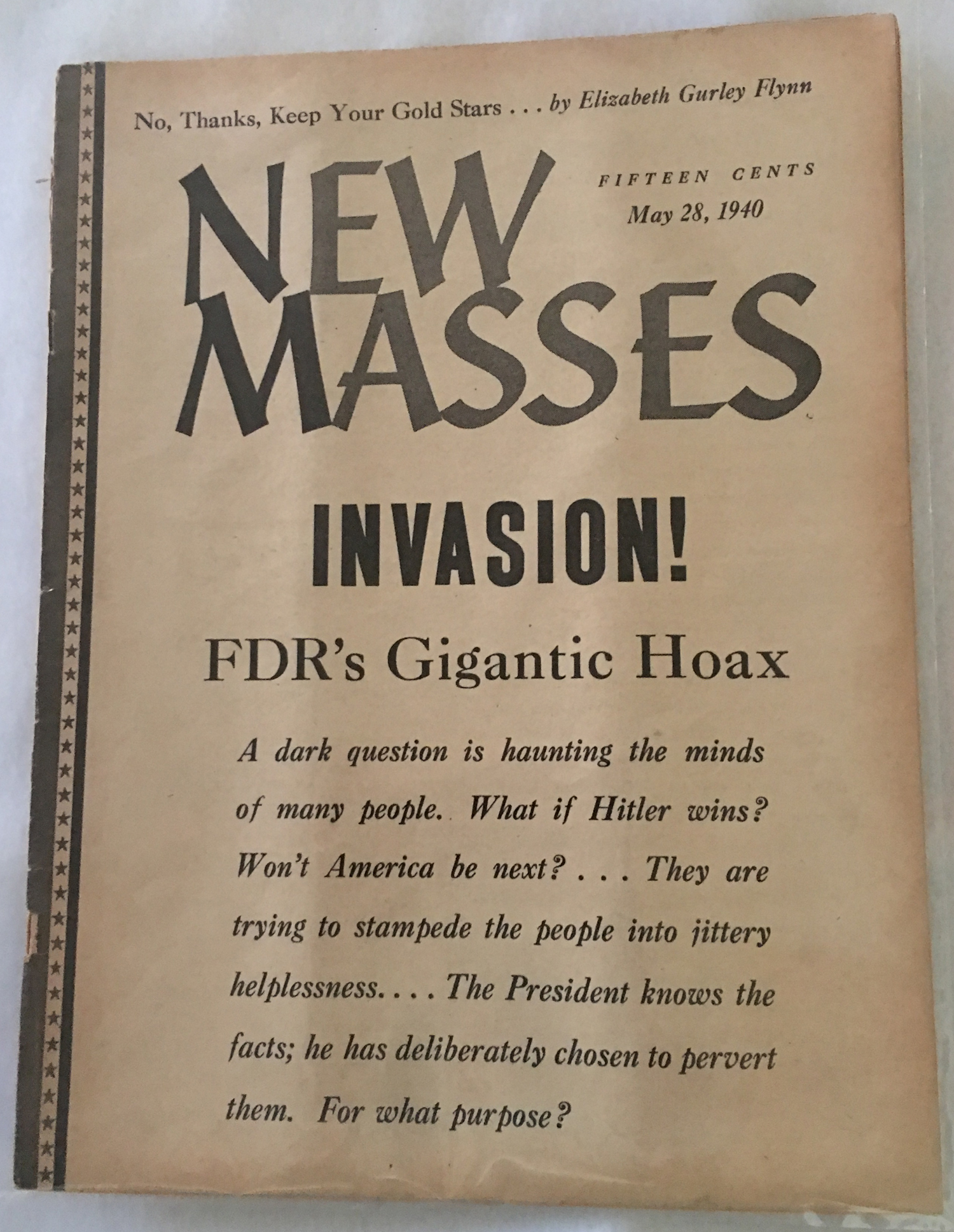 Image for New Masses, May 28, 1940