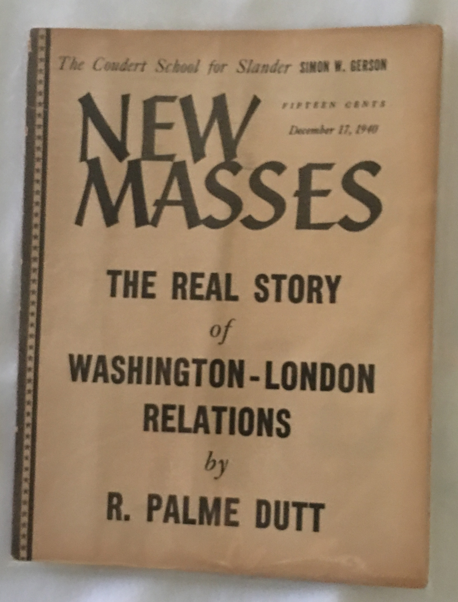 Image for New Masses, December 17, 1940