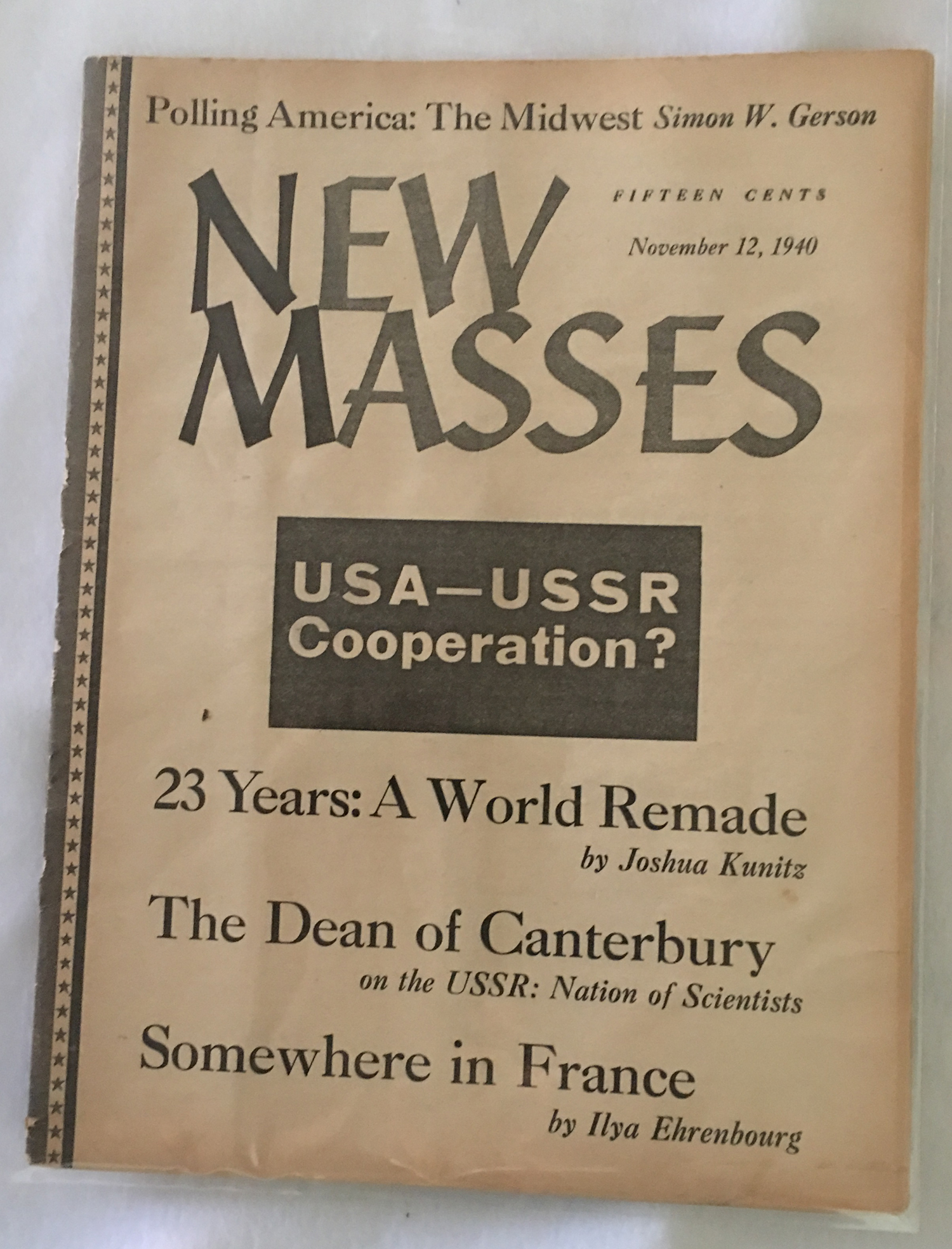 Image for New Masses, November 12, 1940