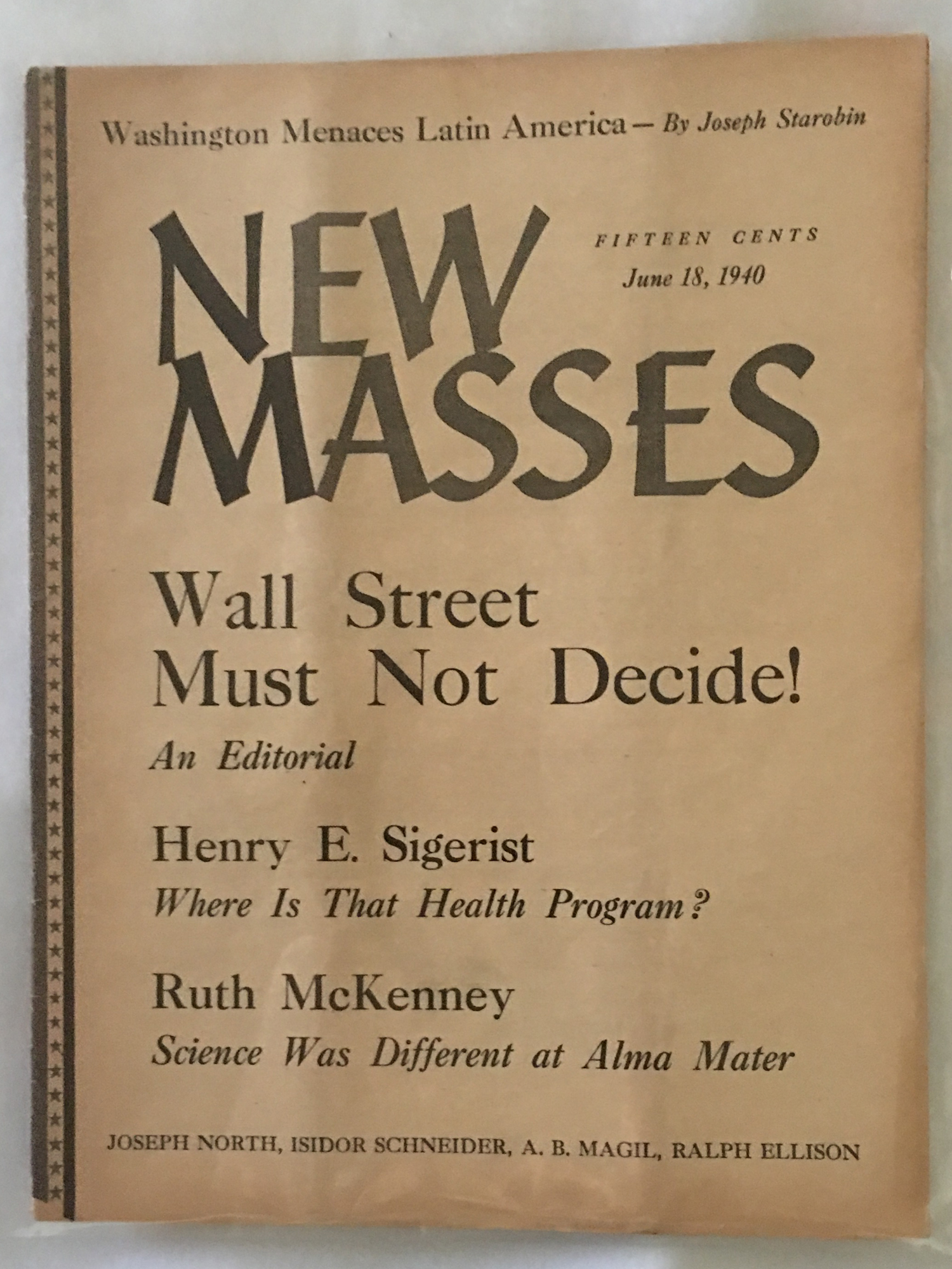 Image for New Masses, June 18, 1940