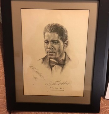 Image for Autographed B&W Print of Roland Hayes