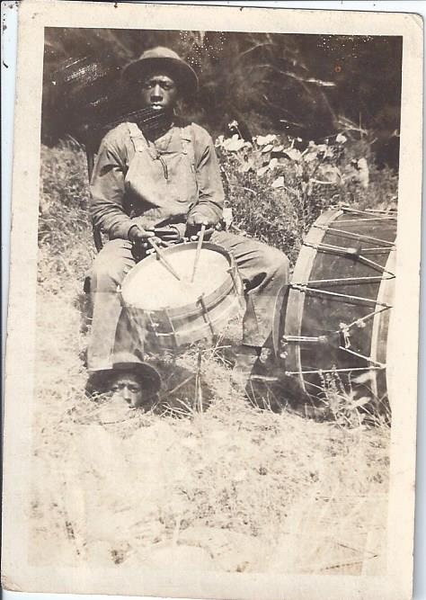 Image for Photograph of African-American Man with Two Drums - Fife and Drum Tradition