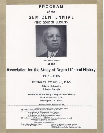 Image for Program of the Semicentennial-- The Golden Jubilee-- of the Association for the Study of Negro Life and History, 1915--1965