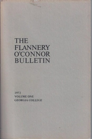 Image for The Flannery O'Connor Bulletin, Volume One