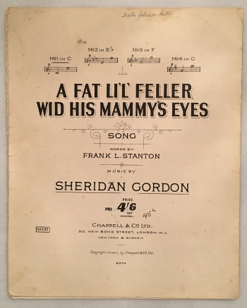 Image for A Fat Li'l' Feller Wid His Mammy's Eyes