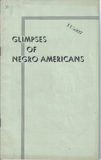 Image for Glimpses of Negro Americans