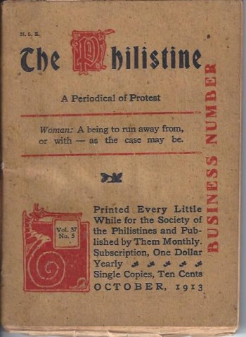 Image for The Philistine: A Periodical of Protest (October, 1913)