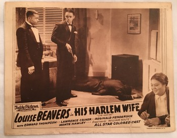 Image for His Harlem Wife (aka Life Goes On), 1938 Lobby Card