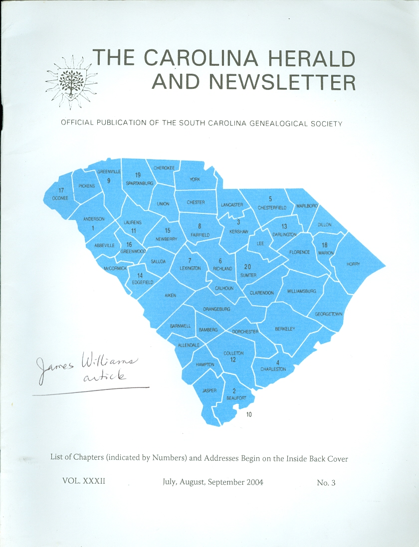 Image for The Carolina Herald and Newsletter Official Publication of the South Carolina Genealogical Society