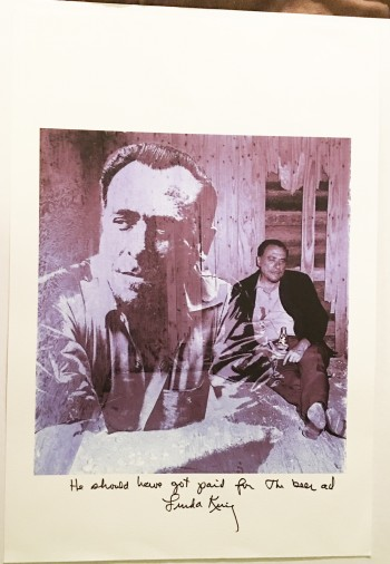 Image for Photographic print of Bukowski, signed by Sam Cherry and Linda King