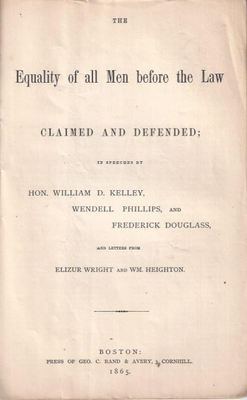 Image for The Equality of All Men Before the Law: Claimed and Defended