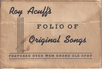 Image for Roy Acuff's Folio of Original Songs