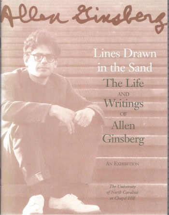 Image for Lines Drawn in the Sand, The Life and Writings of Allen Ginsberg : An Exibition