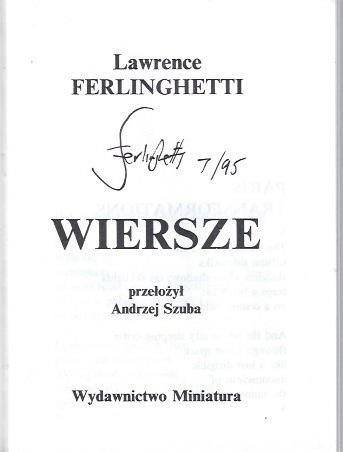Image for Wiersze