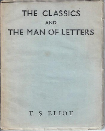 Image for The Classics and the Man of Letters