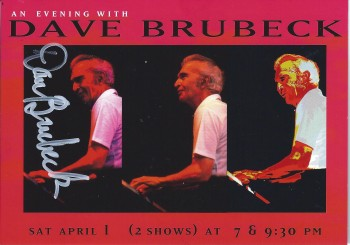 Image for Dave Brubeck, Autographed Advertising Postcard