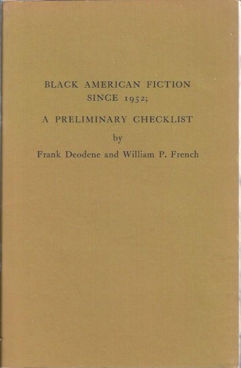 Image for Black American Fiction Since 1952: A Preliminary Checklist
