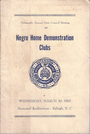 Image for Thirteenth Annual State Council Meeting of Negro Home Demonstration Clubs of North Carolina, Program