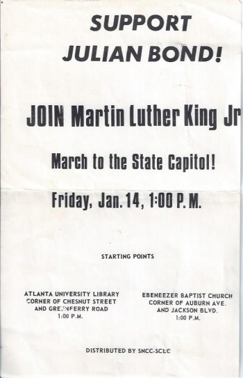 Image for Support Julian Bond! Join Martin Luther Ling Jr (Broadside)