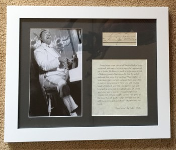 Image for Fats Waller Framed Autograph with Photograph and Eudora Welty Quote