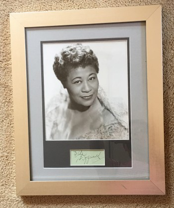 Image for Ella Fitzgerald Framed Autograph with Publicity Photograph