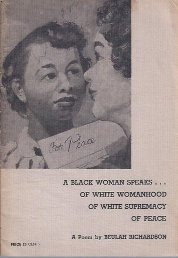 Image for A Black Woman Speaks ... Of White Womanhood Of White Supremacy Of Peace