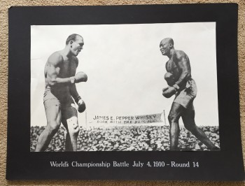 Image for Jack Johnson - James Jefferies Fight of the Century  July 4, 1910 Poster from James E. Pepper Distilling Co.
